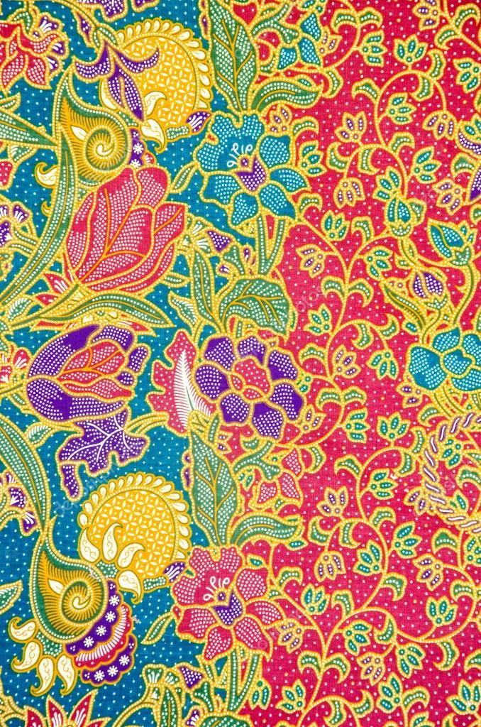 Batik pattern, traditional thai style