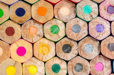 Texture of colored pencils