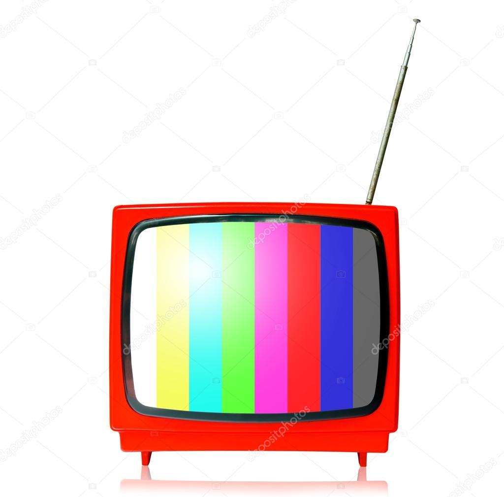 Retro tv mit Farbe Rahmen — Stockfoto © gamjai #81944242