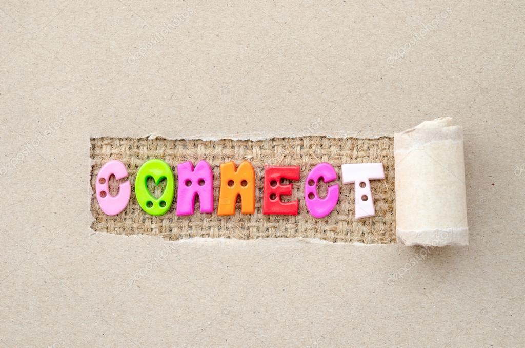 ligue o alfabeto colorido em fundo de saco fotografias de stock