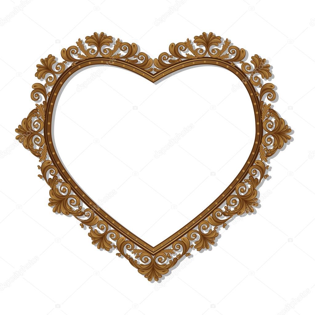 marco en forma de corazón para cuadro o foto — Archivo Imágenes ...