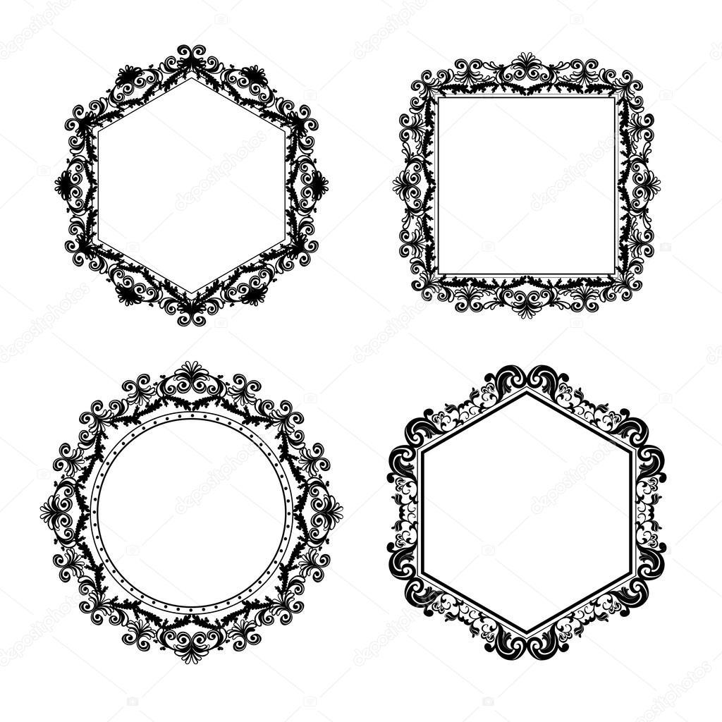 marco para foto o cuadro tallado de silueta — Archivo Imágenes ...