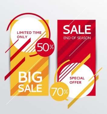 Sale banners. Vector illustration