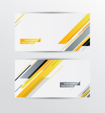 A set of modern vector banners with geometric pattern