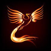Főnix madár tűz sziluett