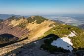 Fotografie Ridge of slovak Little Fatra hills and Zilina city