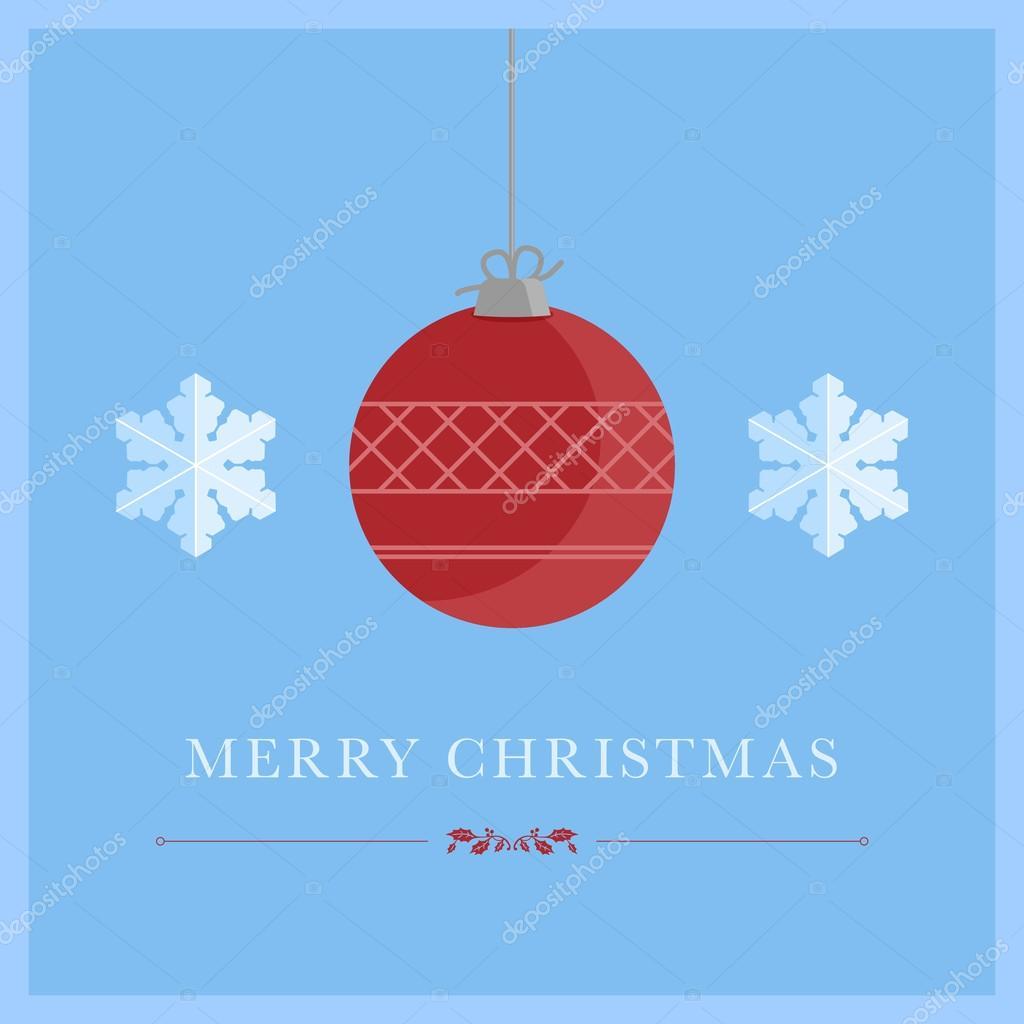 minimalist christmas card with christmas symbols stock vector