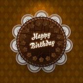 Čokoládový dort s přání k narozeninám