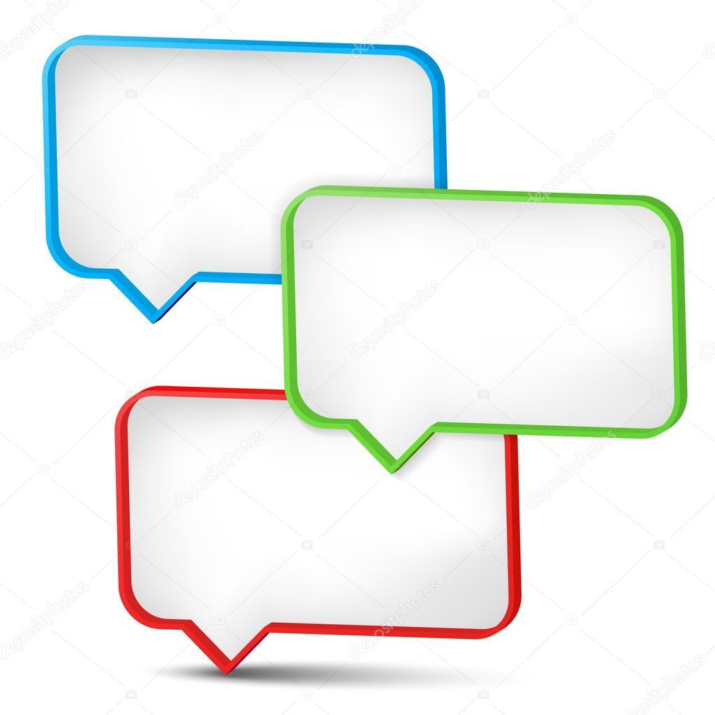 Tres marcos 3d para tus mensajes — Archivo Imágenes Vectoriales ...