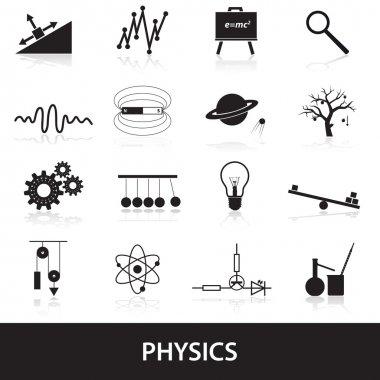 physics icons set eps10