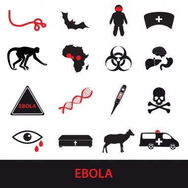 ebola disease icons set eps10