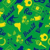 színes brazil ikonok és szimbólumok zökkenőmentes minta eps10