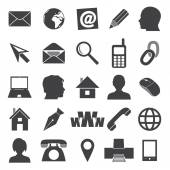 Jednoduché ikony pro vizitku a každodenní použití eps10