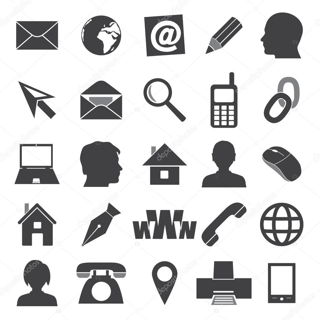einfache Symbole für Visitenkarte und täglichen Gebrauch eps10 ...