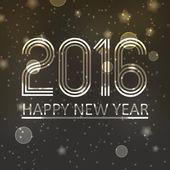 šťastný nový rok 2016 na tmavě lesklé hvězdy na pozadí eps10