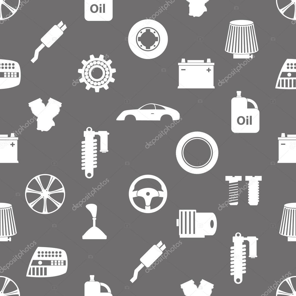 Autoteile speichern einfache Symbole nahtlose Muster eps10 ...