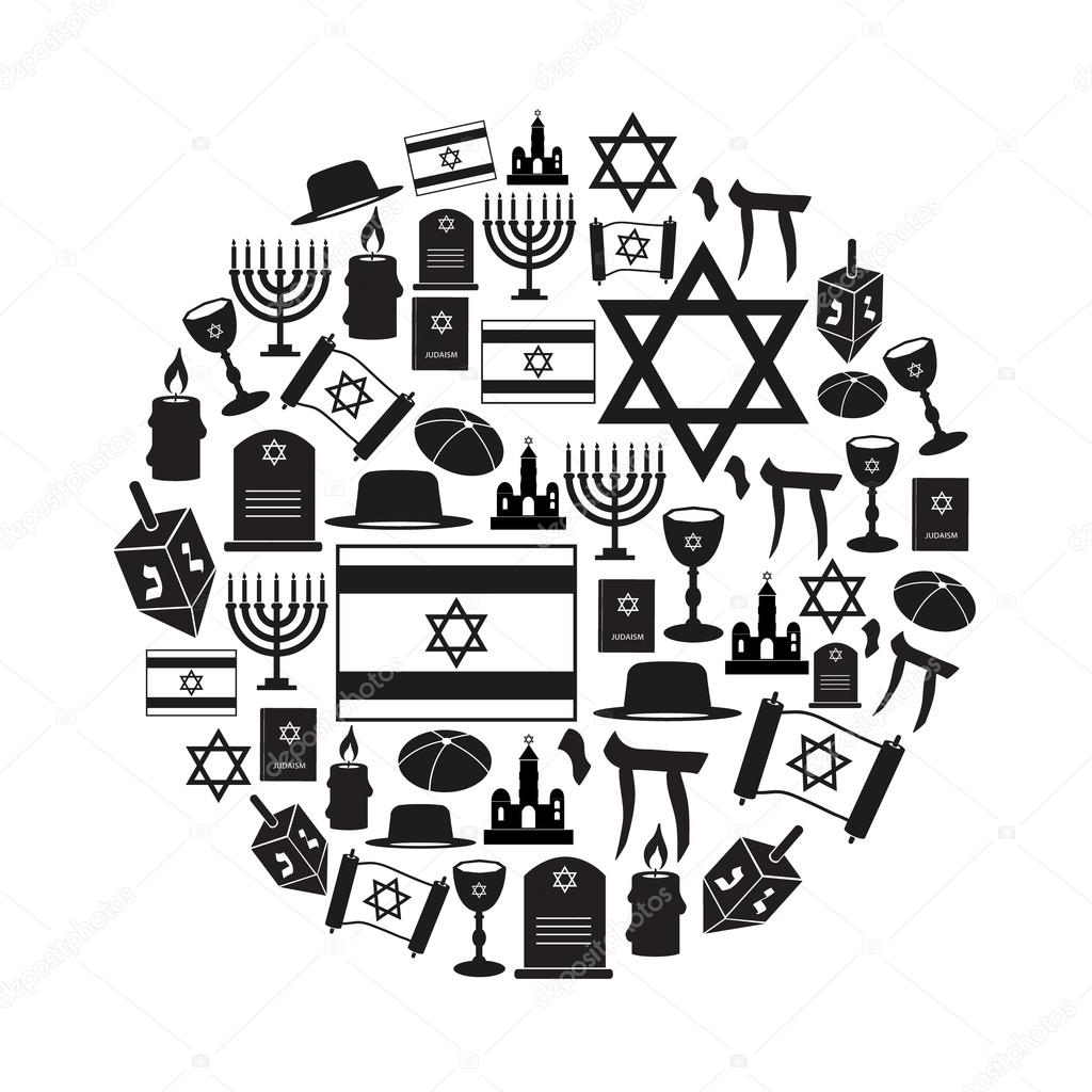 Torah stock vectors royalty free torah illustrations depositphotos judaism religion symbols vector set of icons in circle eps10 vector graphics biocorpaavc Gallery