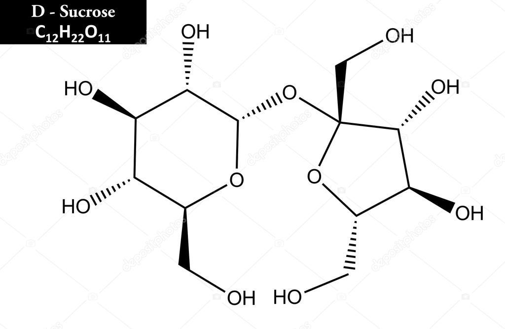 Molecular Structure Of Sucrose Stock Photo Raimund14
