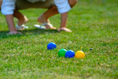 Bocce ball summer leisure activity