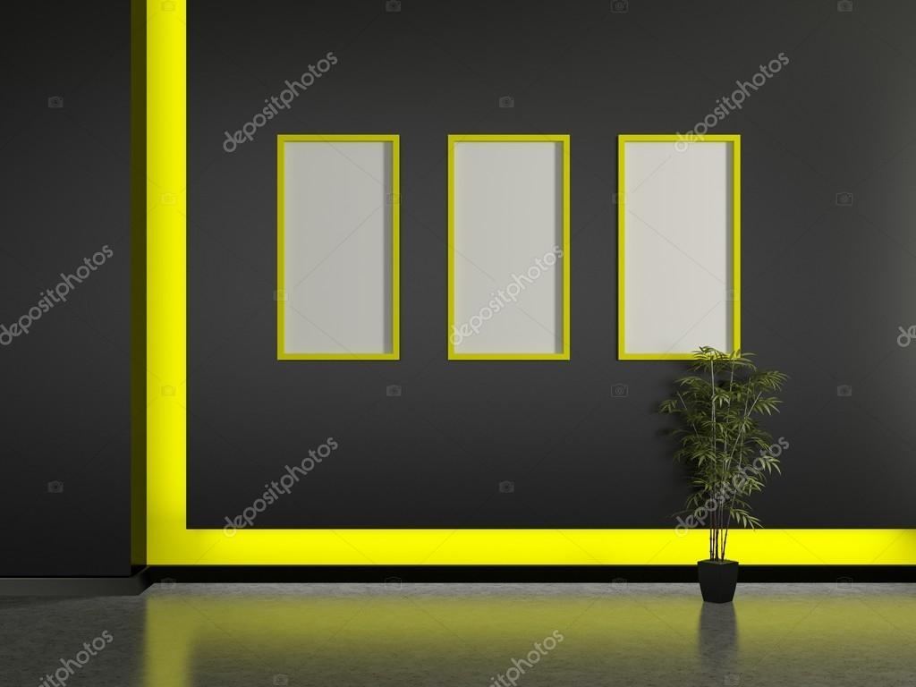 Interni moderni e cornice sul muro foto stock vensk for Interni moderni foto