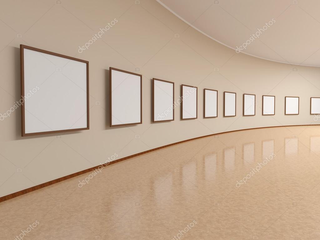 Quadro Na Parede Da Sala De Exposi Es Fotografias De Stock
