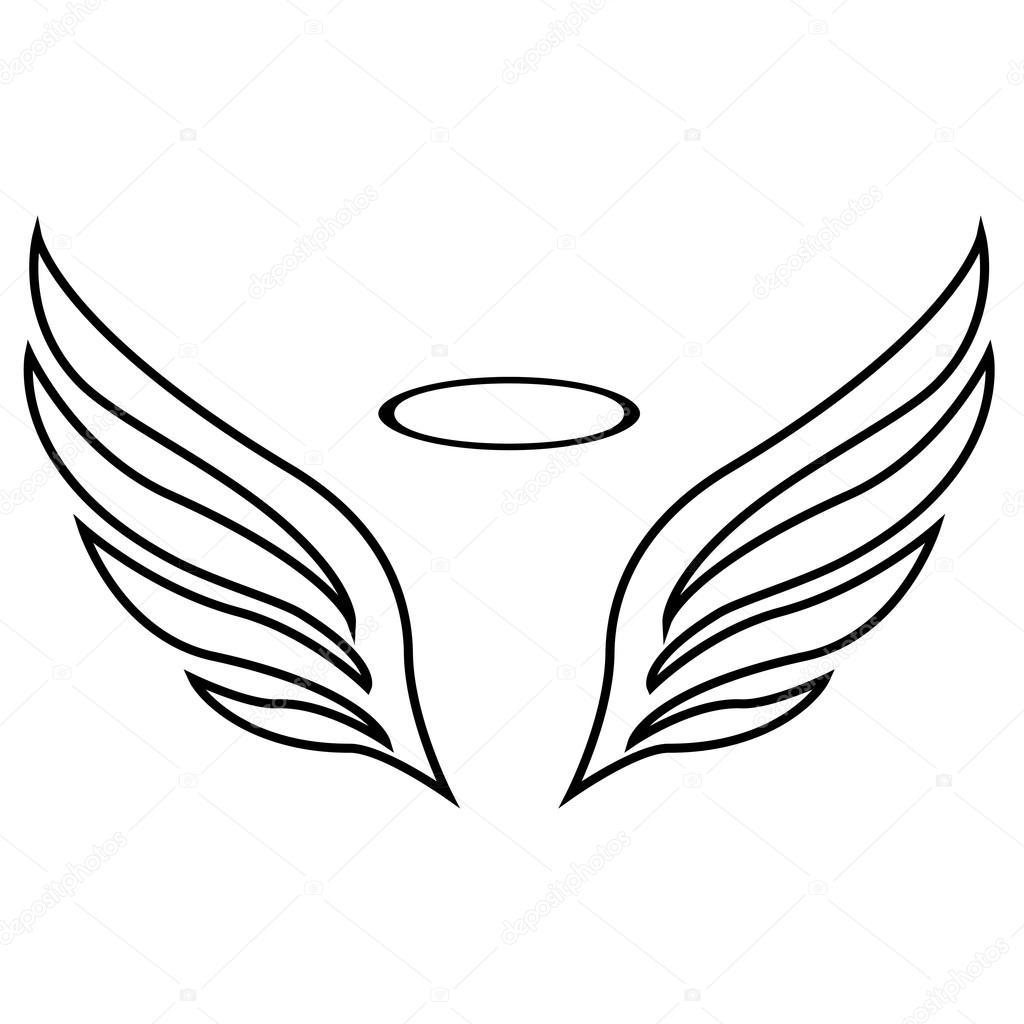 Dibujo De Vectores De Alas De ángel Archivo Imágenes Vectoriales