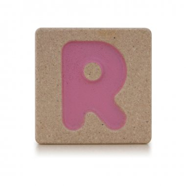 Wooden toy alphabet R