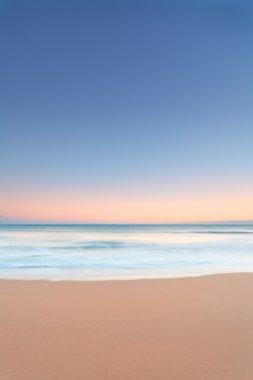 Twilight on a sandy beach
