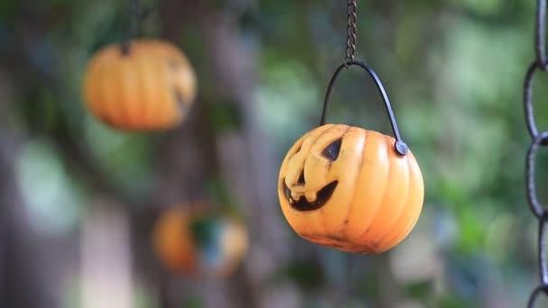 Halloween dýně mobilní ve větru, klipu Hd