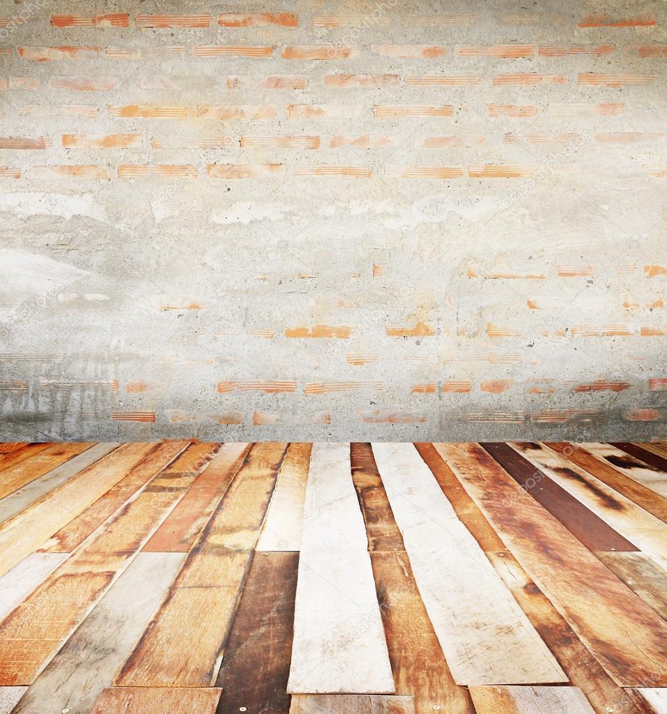 Fondo y la capa de concreta piso de duela de madera de la - Duelas de madera ...