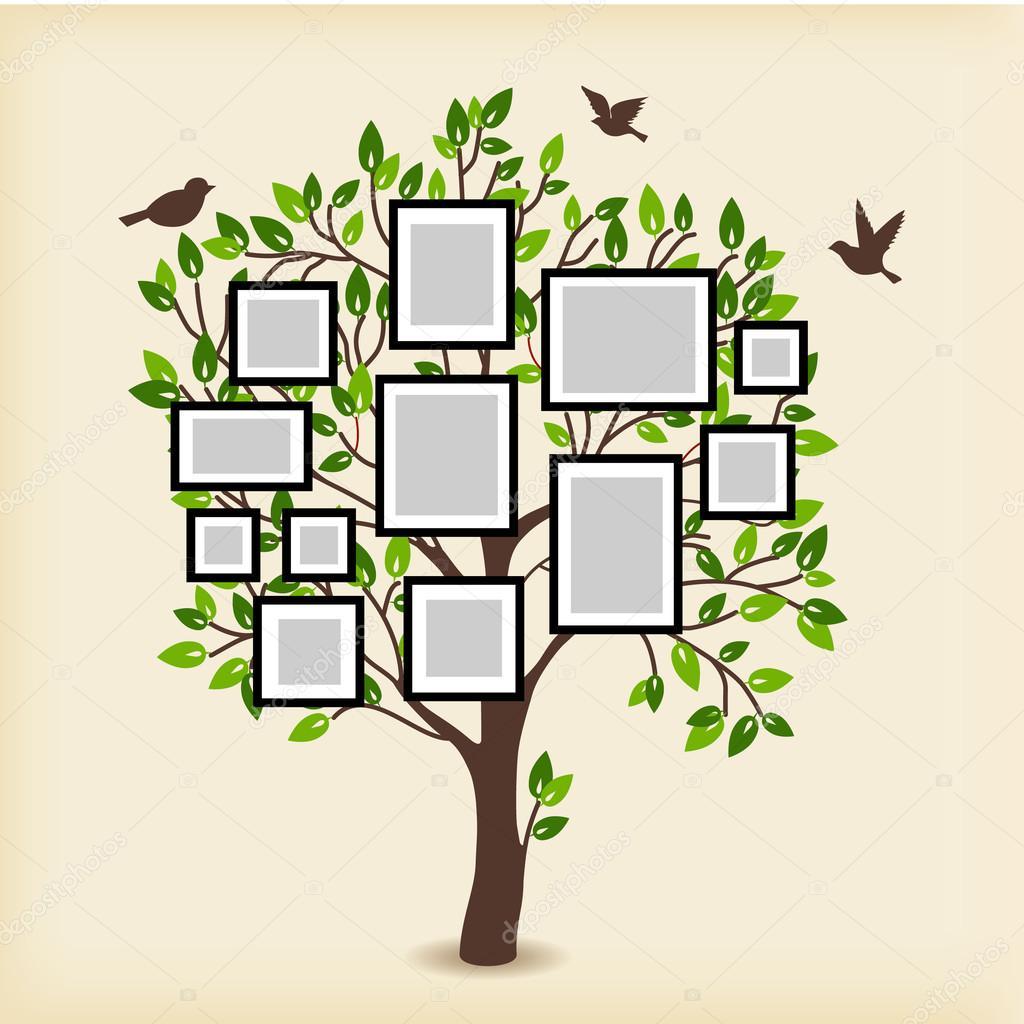 Erinnerungen-Baum mit frames — Stockvektor © Liubou #116263312