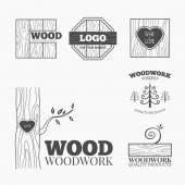 Fotografie Vektorové logo výrobků ze dřeva