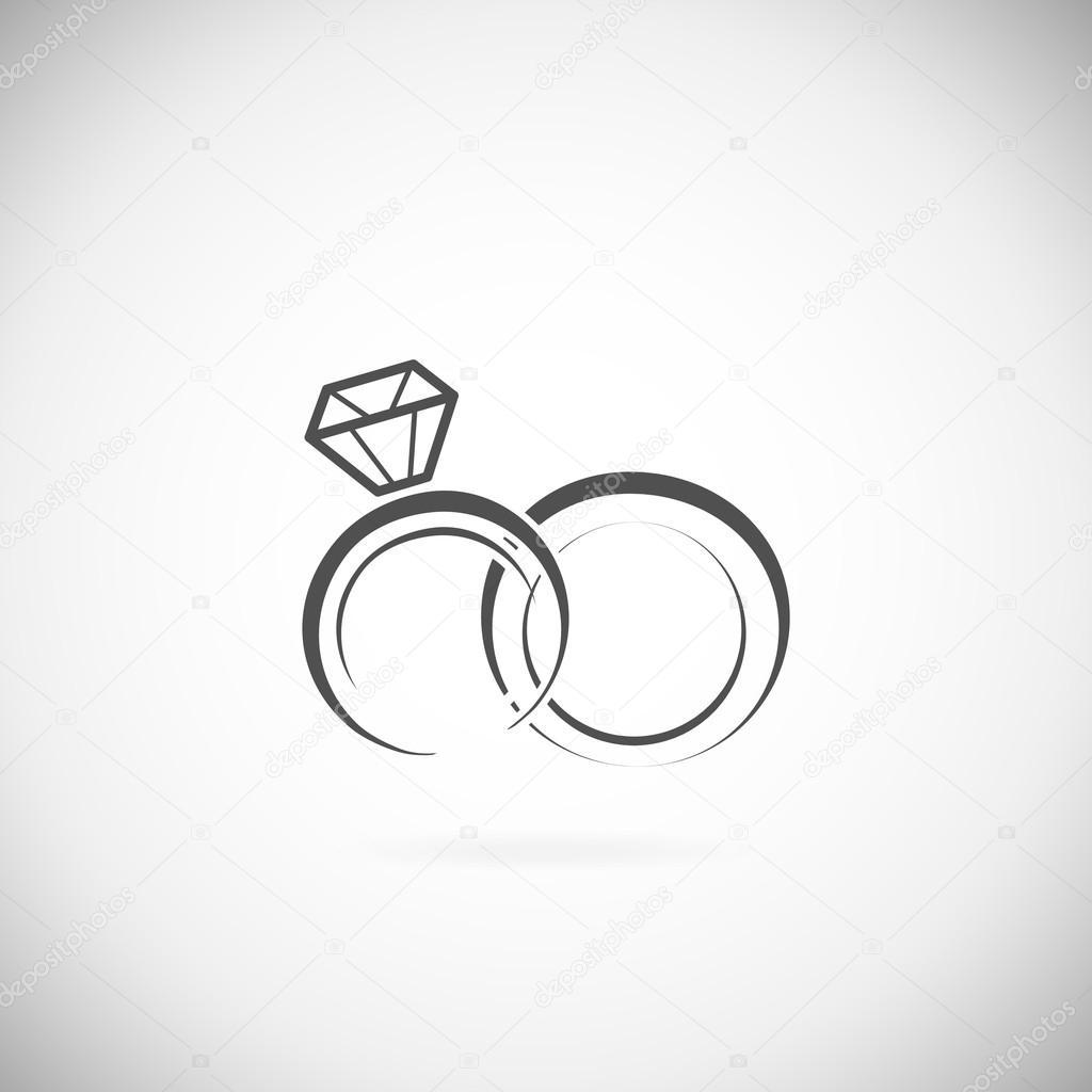 Wedding Rings Vector Vector Image By C Liubou Vector Stock 81135956