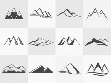Vector mountains emblems