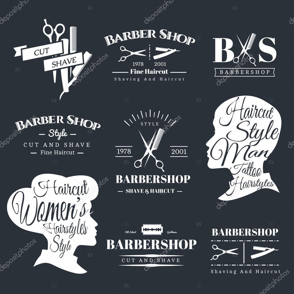 enseignes barbier image vectorielle liubou 90480234. Black Bedroom Furniture Sets. Home Design Ideas