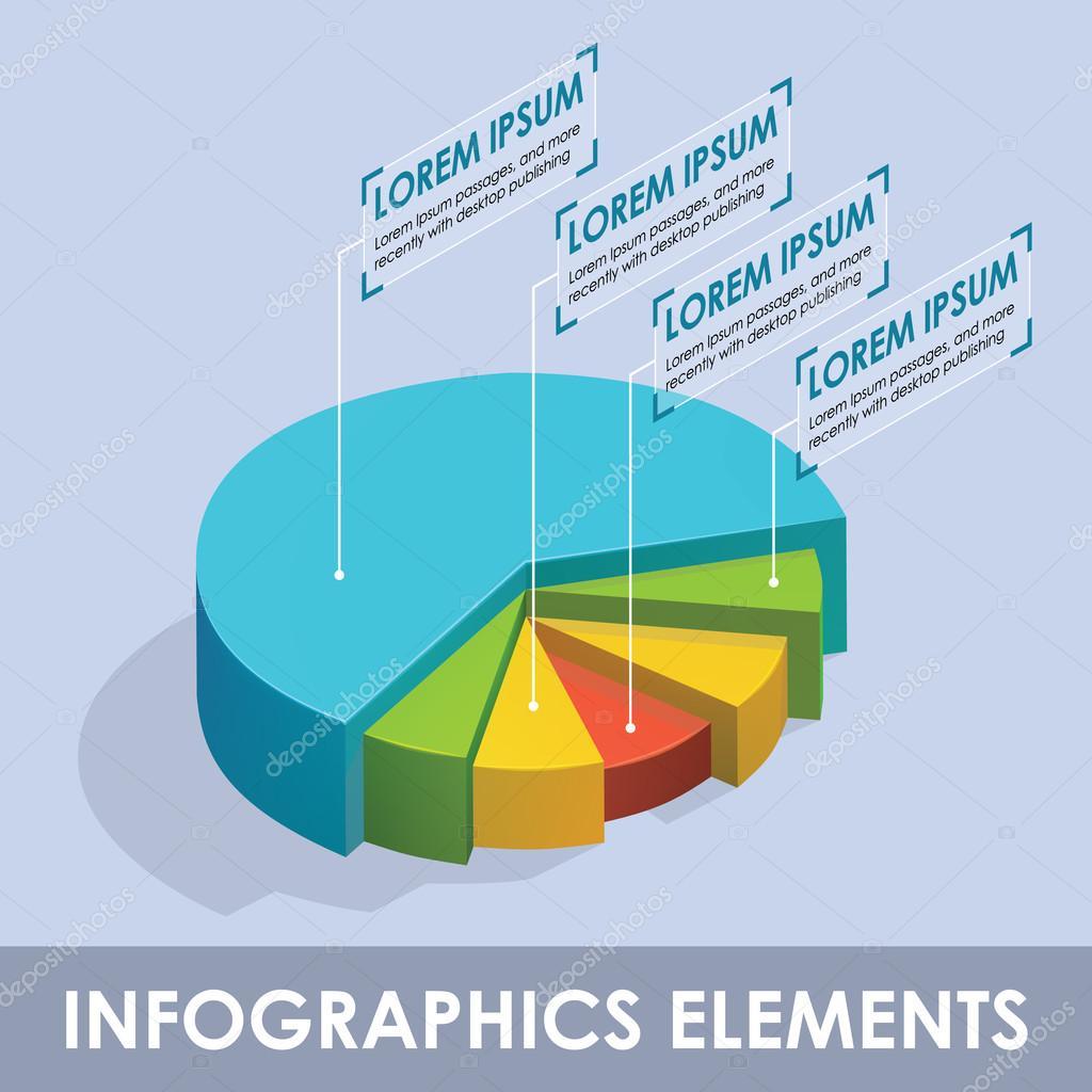 Vector isometric infographic diagram