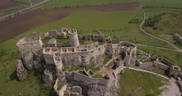 4 k antény, starověký hrad, Spissky Hrad na Slovensku