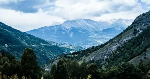4k, časová prodleva, pohled na horu Wildhorn, Švýcarsko
