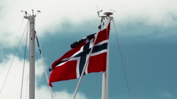 Bandiera della Norvegia, cielo blu
