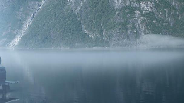 Viking člunu na A Pier v Norsku, Epic Fullhd Visualfx shot