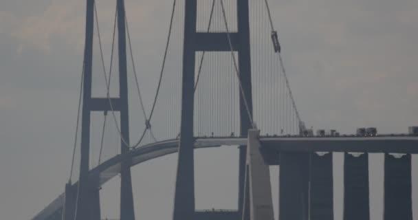 4K, Traffic On Oeresundbridge between Danmark And Sweden