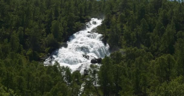 4K, Waterfall in the woods, Norway