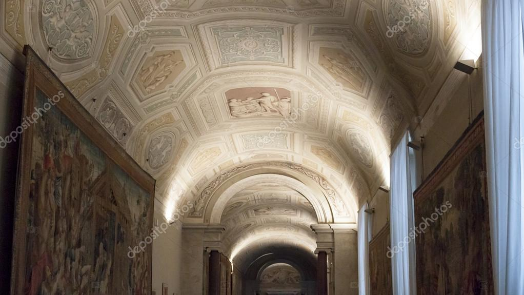Soffitto A Volta Affrescato : Vaticano a volta soffitto affrescato roma u foto stock