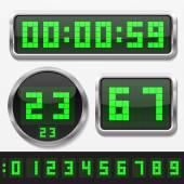 Digitální čísly a tvary těla, základní hodiny sada