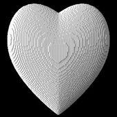 3D srdce bílé bloky