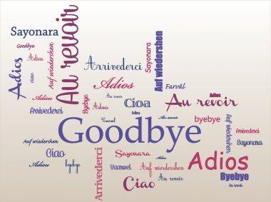 Goodbye  illustration vector Background