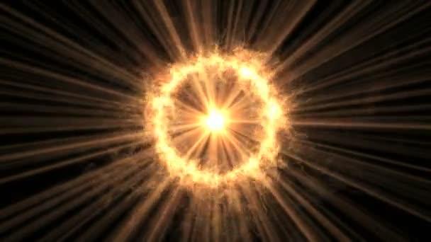 abstraktní ohně kruh 4k