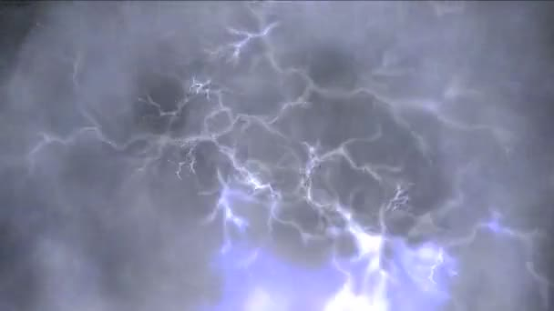 abstract clouds thunder 4k