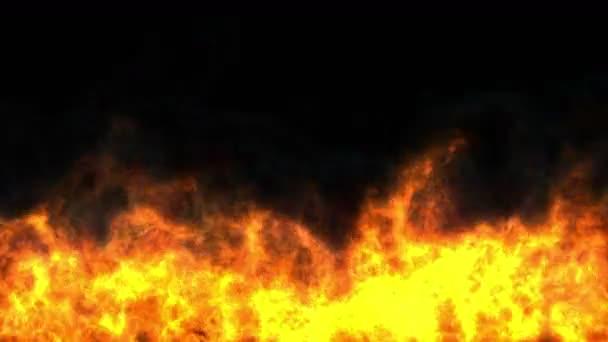 Plameny požáru abstraktní 4k
