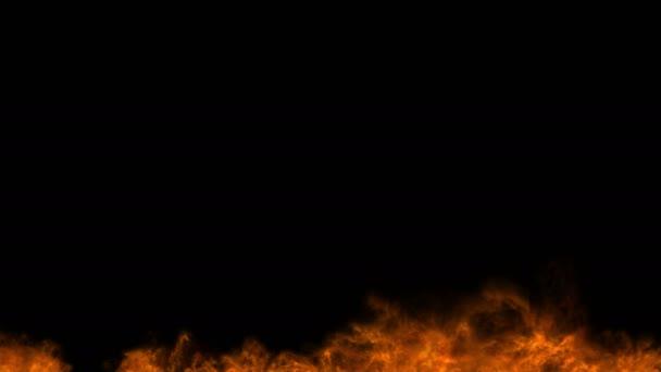 vízszintes tűz absztrakt 4k